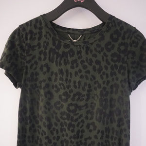 Green & Black Leopard Juciy couture Tee